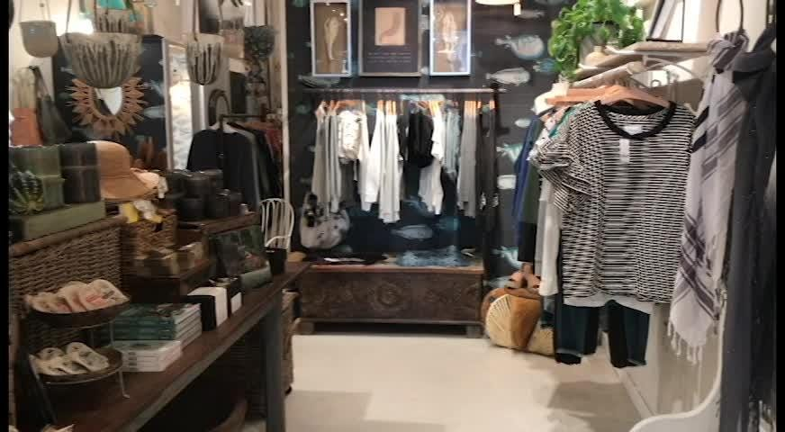 Coral Cove offers shoppers a relaxing atmosphere while shopping high-end apparel, accessories, home
