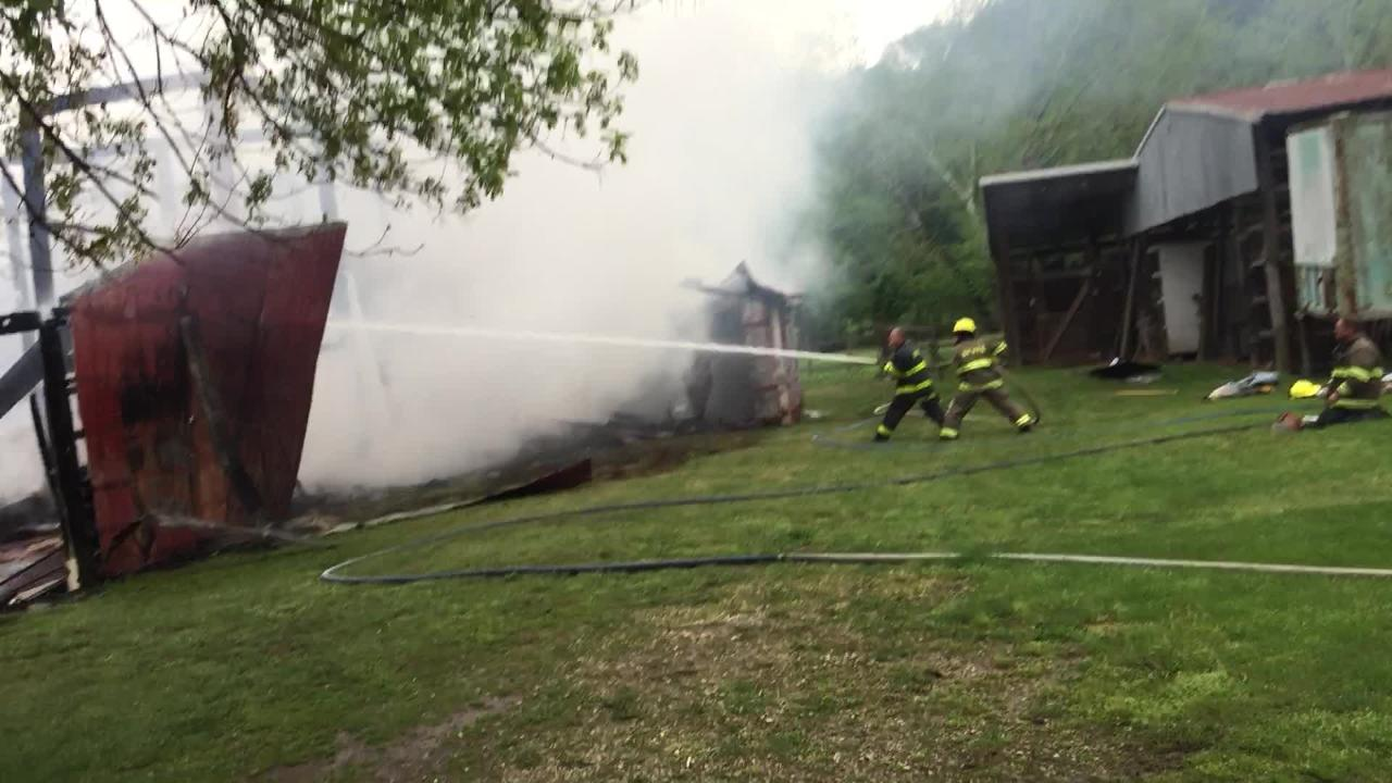 A barn located at 8615 Sugargrove Road and owned by Don Janicki was lost after a fire on Monday afternoon.