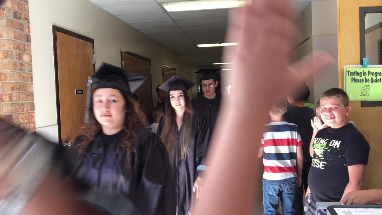 Soon-to-be graduates of Las Cruces Public Schools are visiting their former elementary schools this week in hopes of inspiring the next generation.