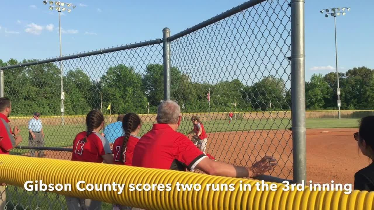 Highlights from Gibson County's 7-6 win over Bradford in the Region 7-A semifinals on May 14, 2018.