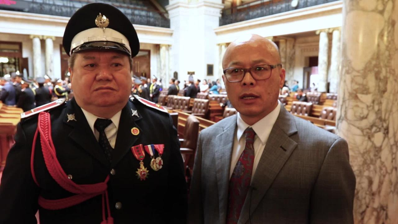 MADISON - There were about 300 Hmong veterans with the Wisconsin Lao Veterans of America gathered Monday at the Wisconsin state Capitol in Madison to celebrate the Hmong-Lao Veterans Appreciation Day and commemorate the evacuation of Hmong soldiers from Laos after the Vietnam War had ended.
