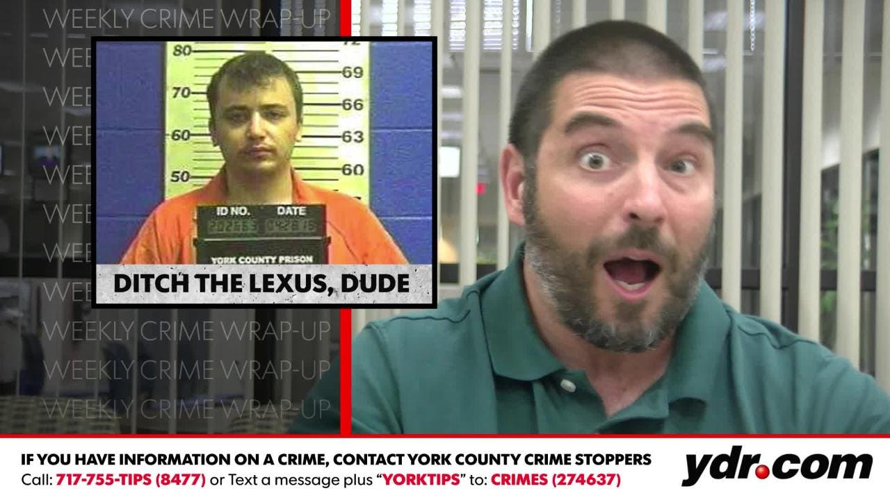 """In this week's wrap-up, Ted Czech comments on a room-renting robber, """"Ditch the Lexus, dude"""" and """"Three time's a charm."""""""