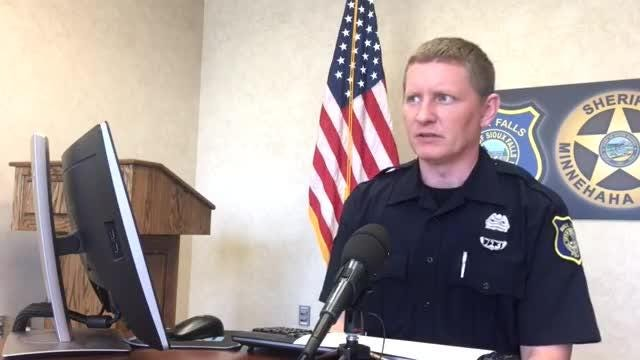 Sioux Falls police spokesman Sam Clemens goes over the call log for May 15.
