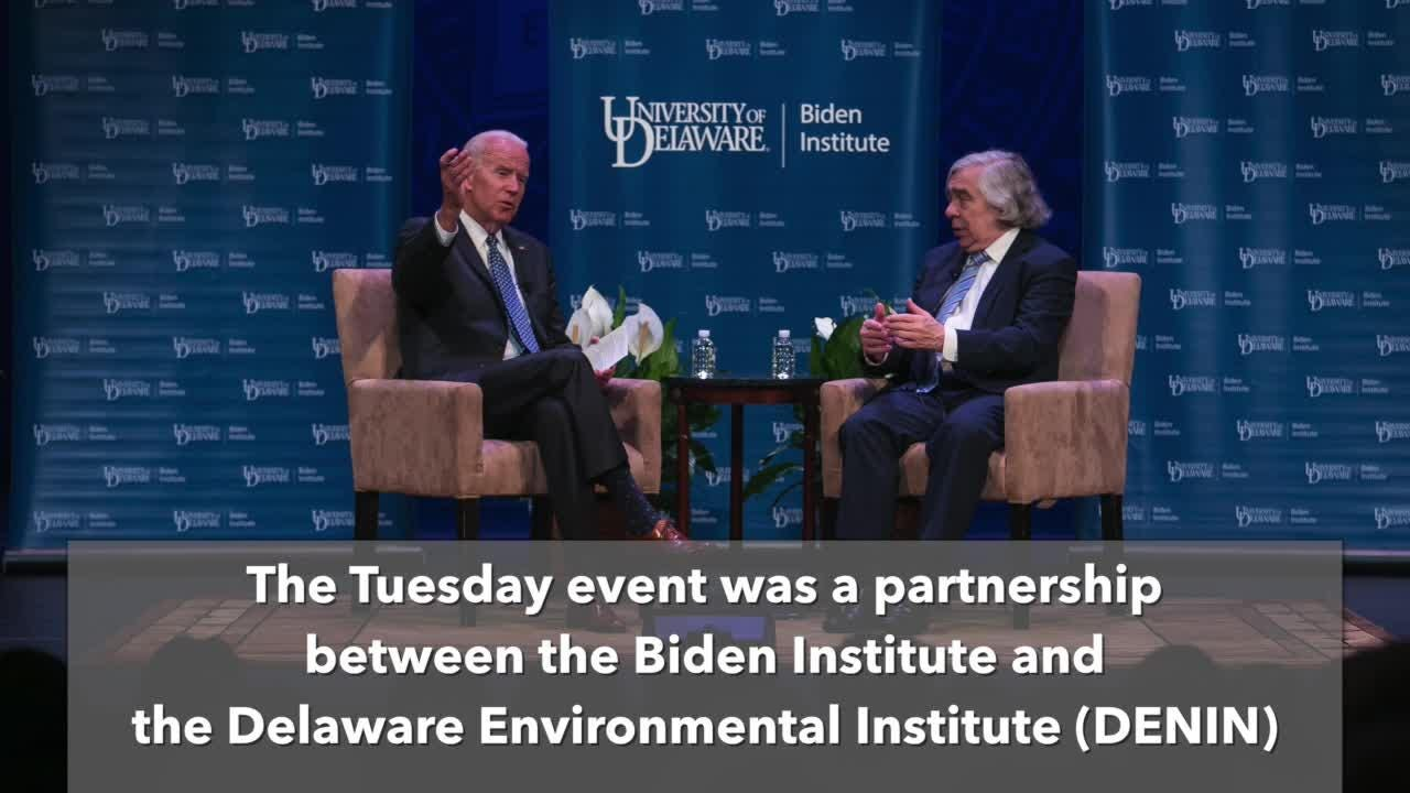 Biden discusses U.S. energy with Ernie Moniz