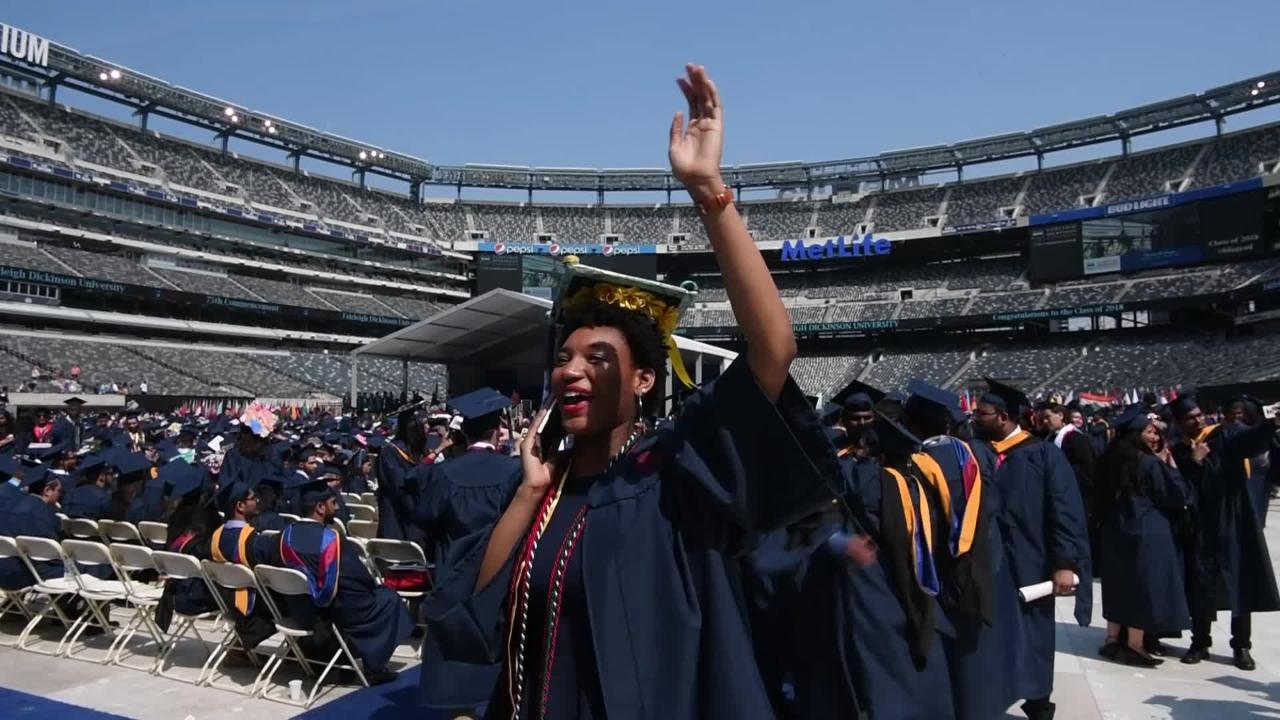 75th Commencement Ceremony of Fairleigh Dickinson University at MetLife Stadium on Tuesday, May 15, 2018.