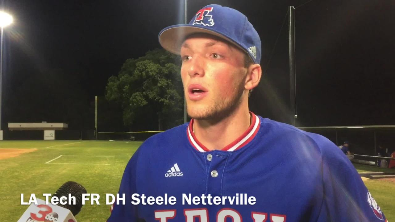 Louisiana Tech freshman designated hitter and former Byrd standout Steele Netterville explains freshman year growth.