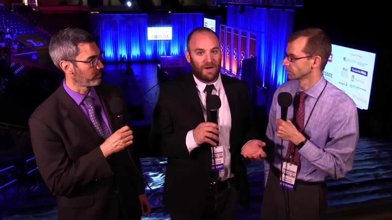 Duane Gang, David Plazas and Joel Ebert from the USA TODAY NETWORK - Tennessee talk about the Tennessee gubernatorial forum