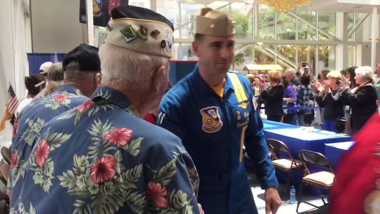 Pearl Harbor survivor marks 100th birthday with U.S. Navy Blue Angels