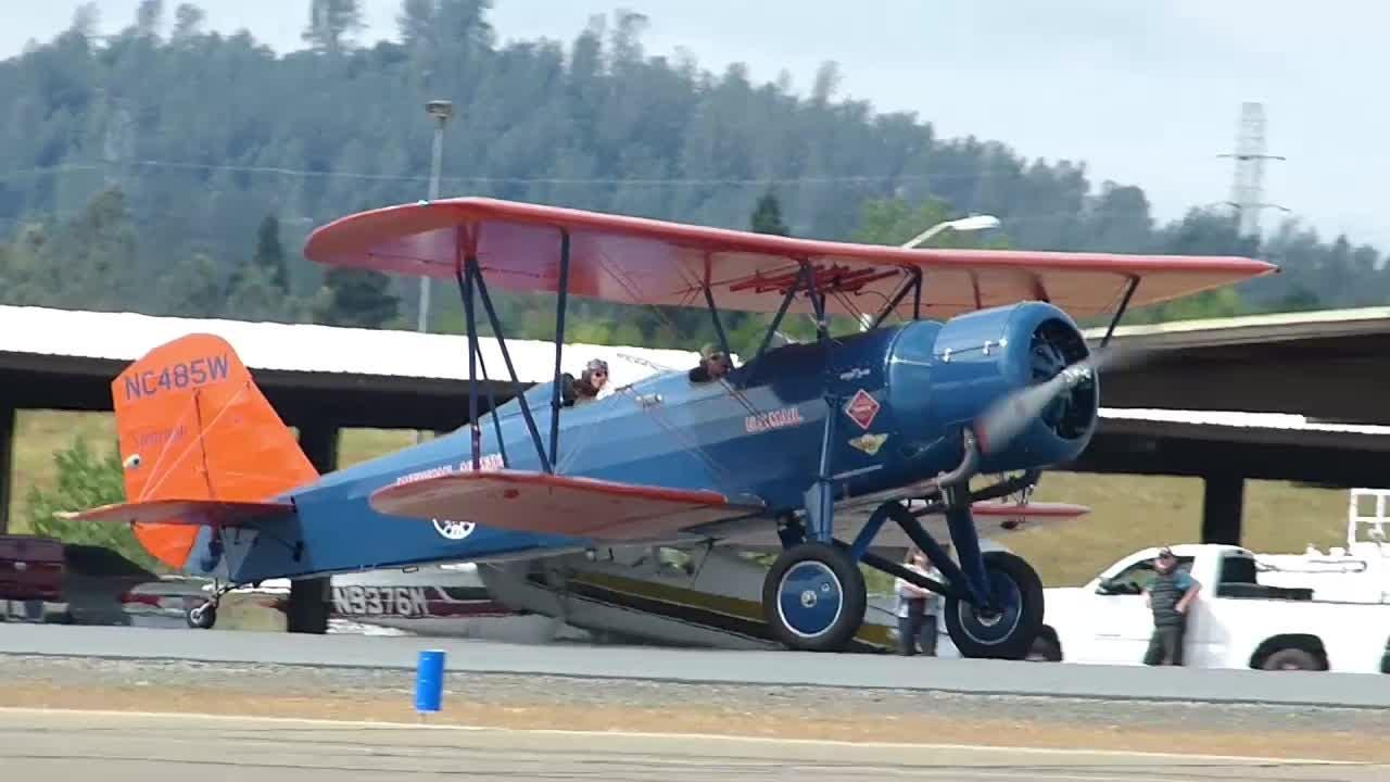 Three vintage biplanes landed in May 2018 at Benton Airpark during a journey marking the 100th anniversary of airmail service.