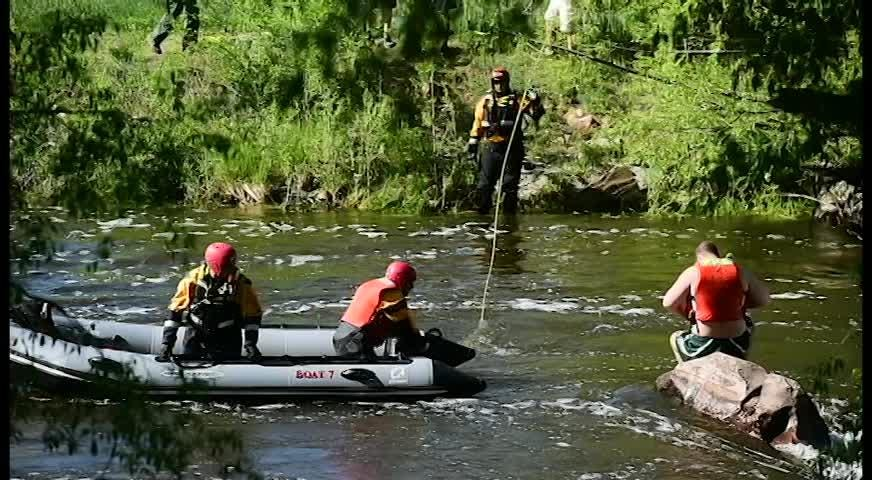 Poudre Fire Authority and Larimer County Dive Rescue rescued a man from the fast waters of the Poudre River near College Avenue.