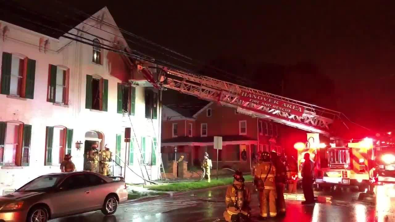 Firefighters put a fire in the 500 block of Broadway under control Wednesday night.
