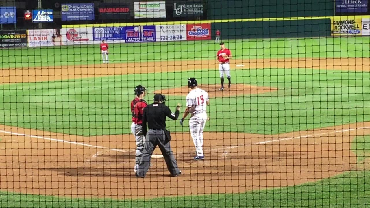 Binghamton's Tim Tebow strikes out in the ninth inning against Erie's Zac Houston on Wednesday at NYSEG Stadium. Tebow went 0-for-4 with two strikeouts in the Rumble Ponies' 10-3 loss.