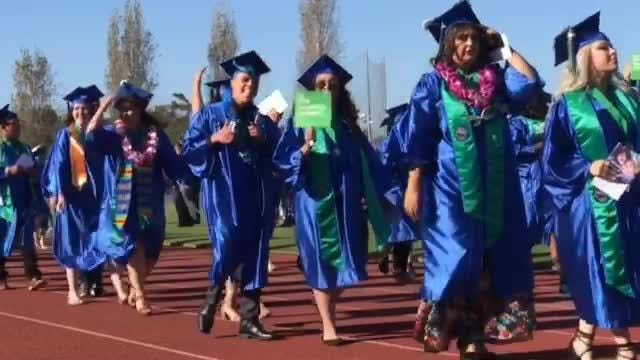 At Wednesday night's Oxnard College graduation 1,680 students ranging in age from 17 to 63 picked up their degrees.