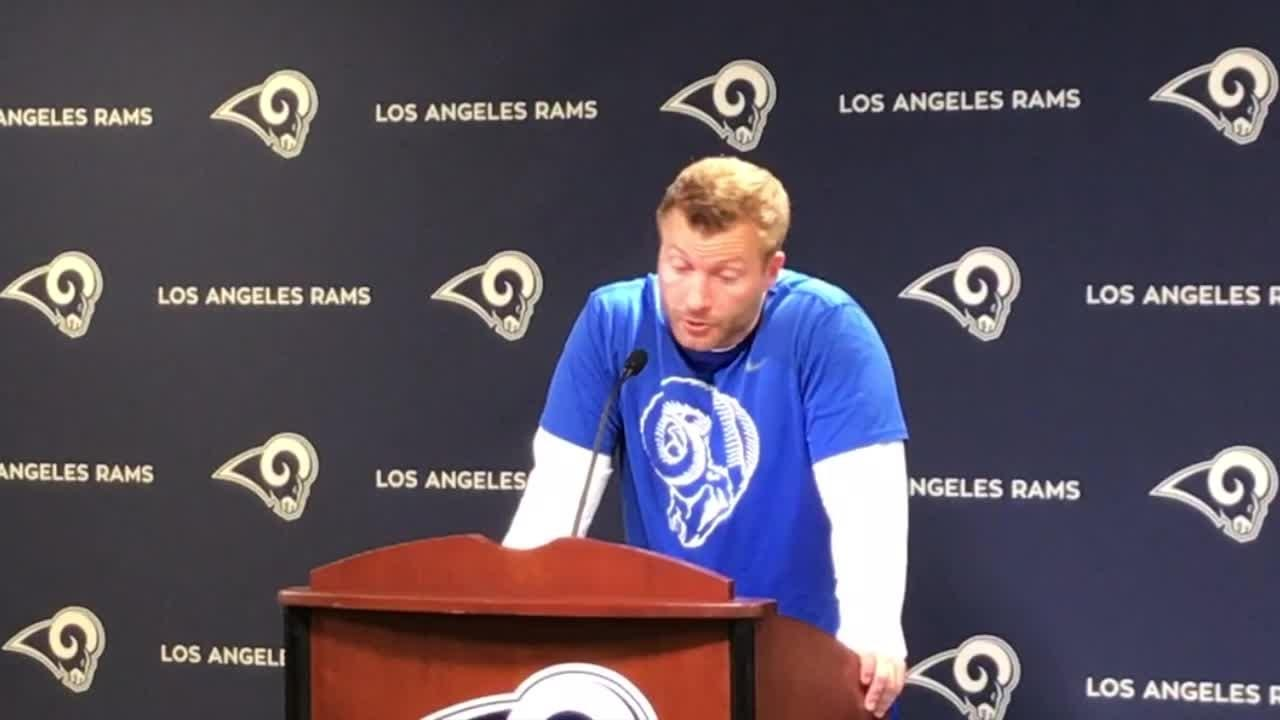 "Rams coach Sean McVay gave an update of the running back room on Tuesday, saying star Todd Gurley would have to be ""pretty tired"" to rest in 2018."