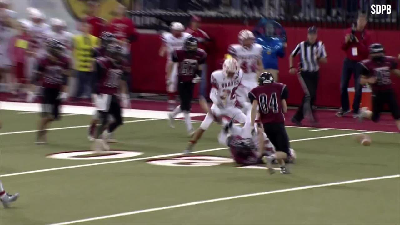 This play features a fortunate twist of fate and an unlikely touchdown.
