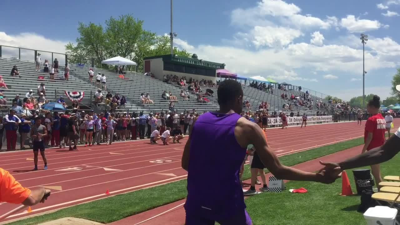 On the final jump of the day, Fort Collins' Micaylon Moore wins 5A long jump state title.