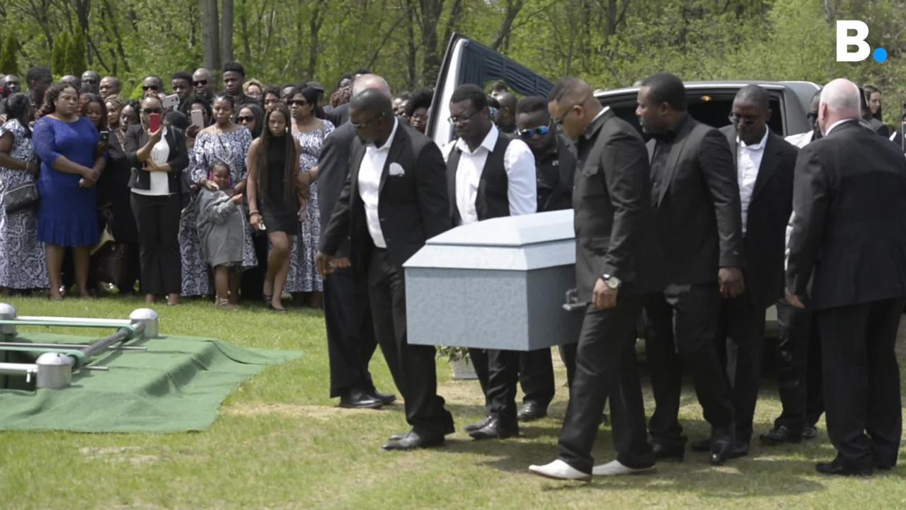 "Family and friends buried Anako ""Annette"" Lumumba on Thursday, May 17, 2018, in Winooski. Lumumba was found dead in her South Burlington home on May 3."