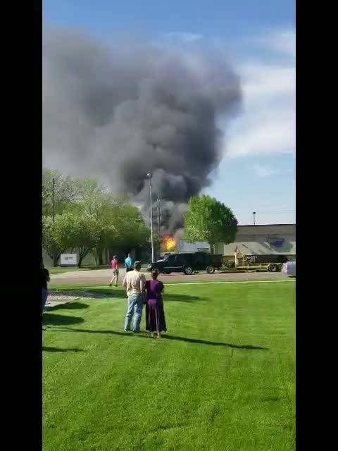 Propane tanks explode at the A-OX Welding Supply Company in Sioux Falls