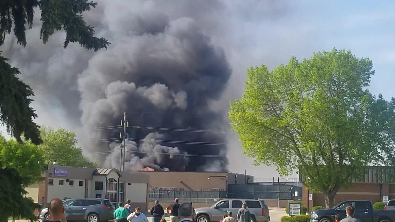 Video of the structure fire at A-OX Welding Supply Company in Sioux Falls