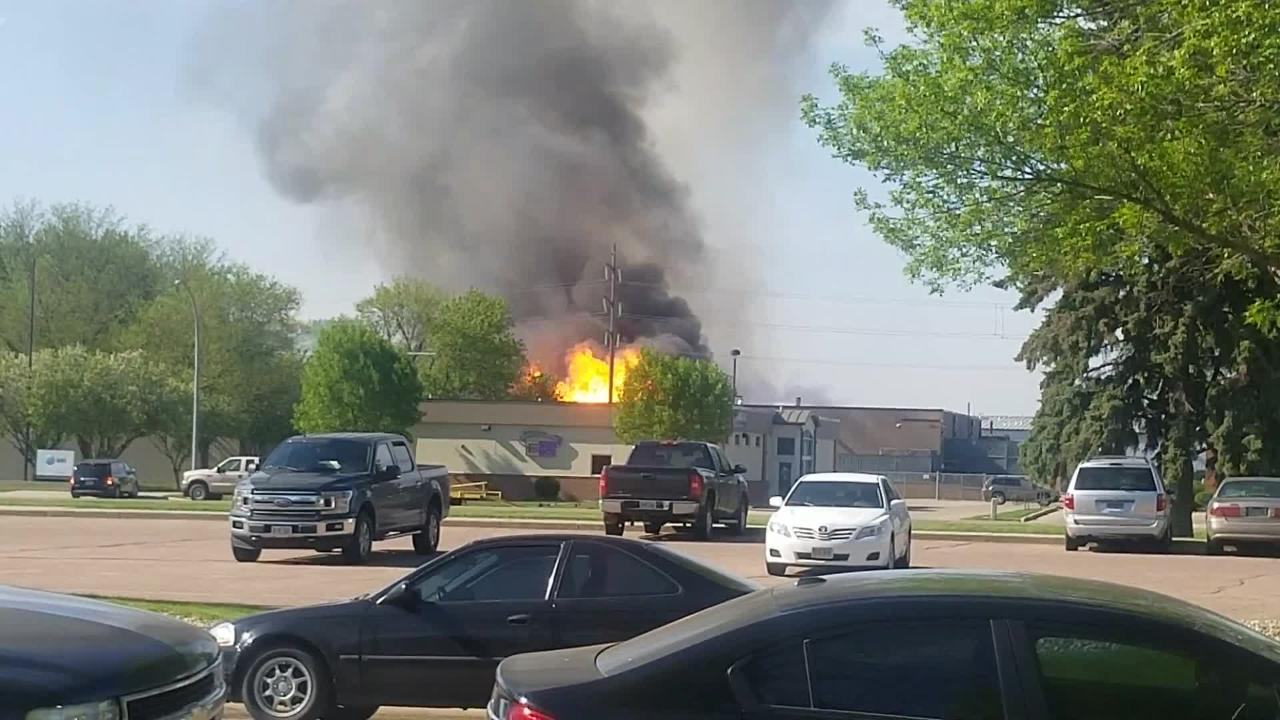 Video from the A-OX Welding Supply Company fire in Sioux Falls