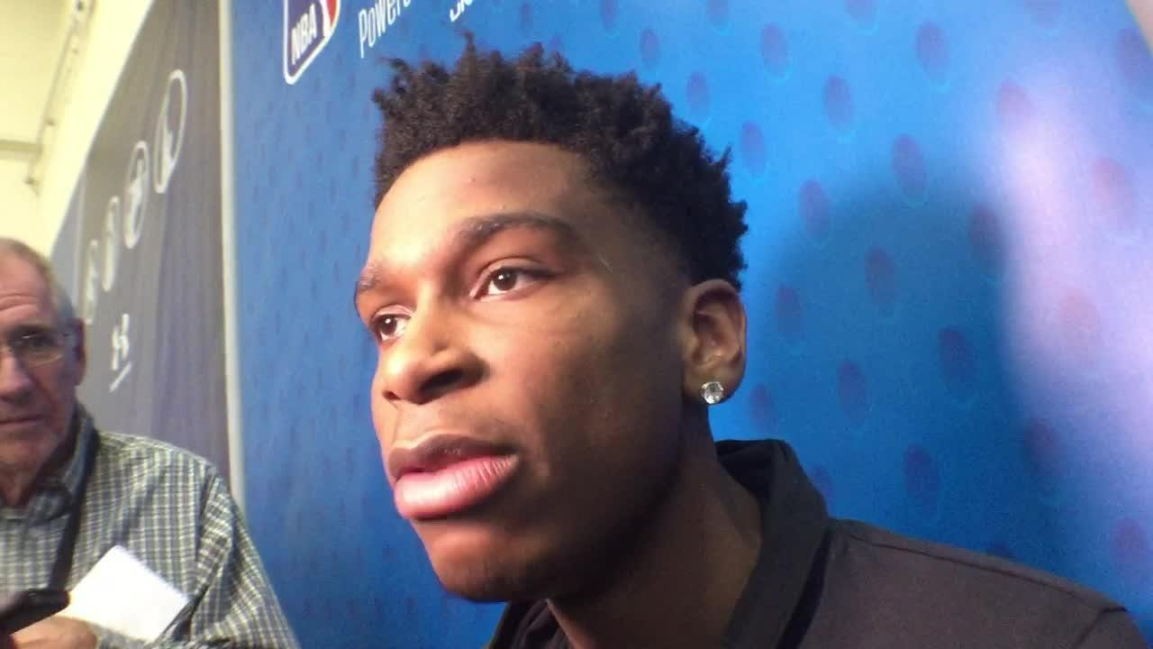 Former UK point guard Shai Gilgeous-Alexander talked about his ascension to possible lottery pick at the NBA combine.