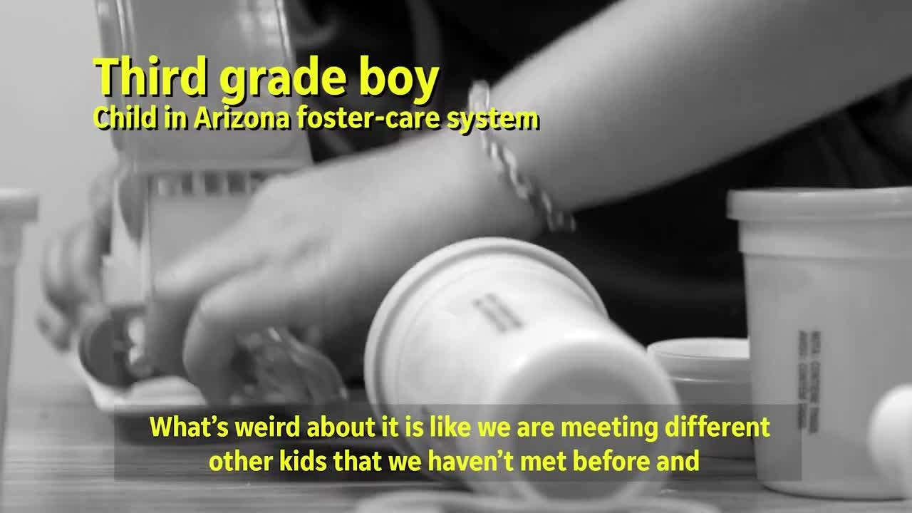 A second-grade boy and a third-grade boy in the Child Crisis Arizona shelter in Mesa provide insight into living in the Arizona foster-care system.