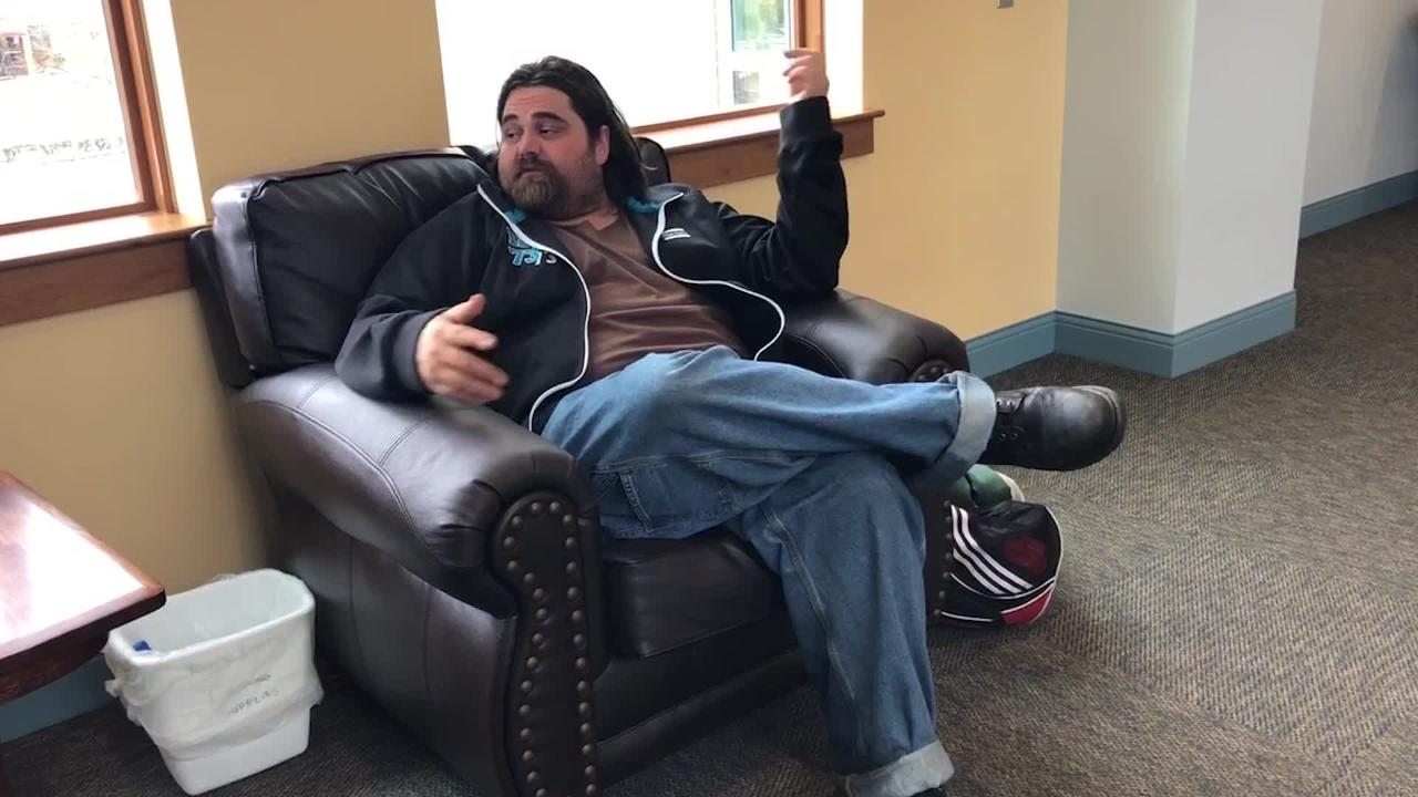 Jason Davies, 34, has been chronically homeless most of his adult life, and it's all linked to one main cause: his depression.