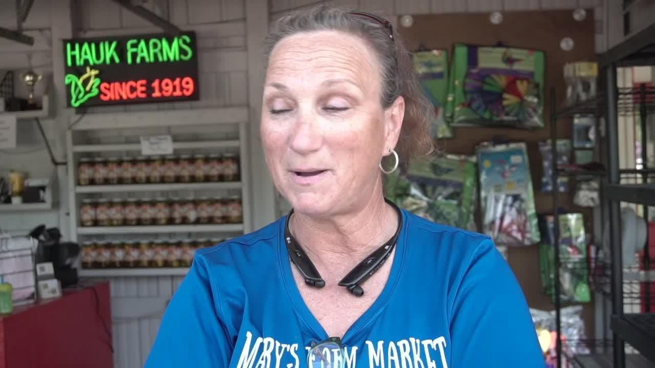 Mary Hauk's farm market sits on the corner Ford and Beck Roads, in Canton. The Market stays, but Hauk Farms will soon move to Milan.