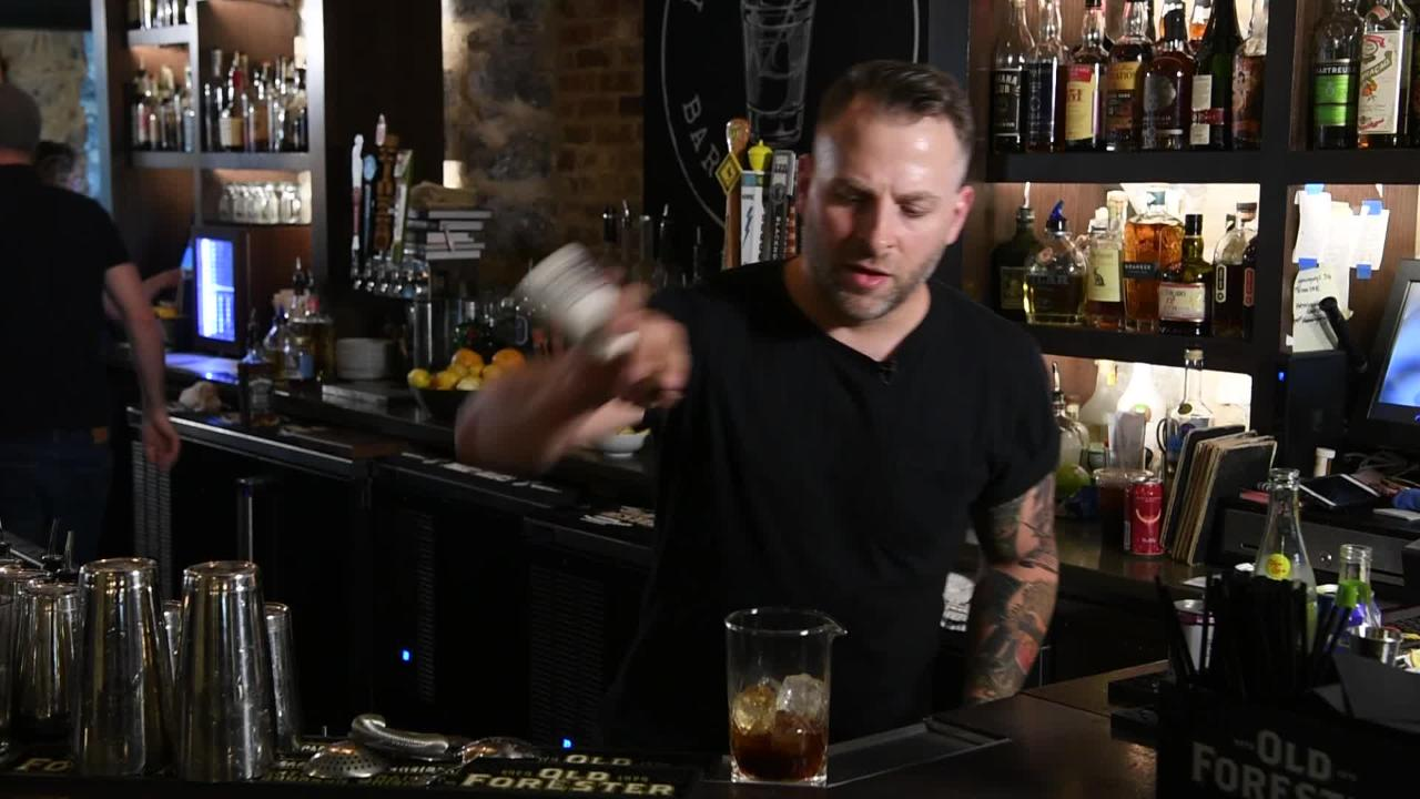 "Christopher Weber, co-owner of Hemingway's Bar & Hideaway makes a ""Steve McQueen"""
