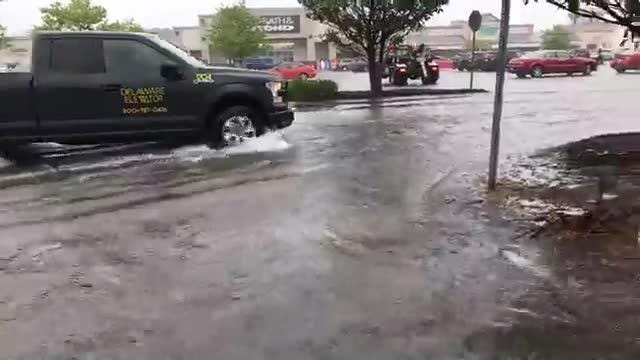 Take a look at the storm damage from flooding at White Marlin Mall in West Ocean City.