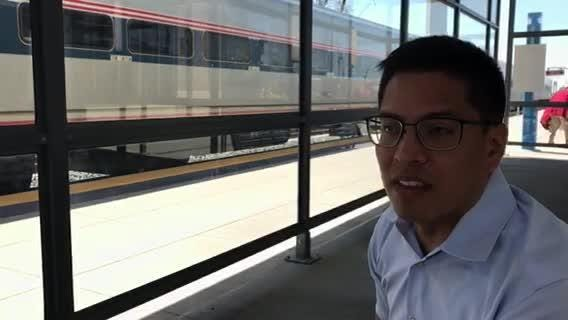 Jeffrey Nolish, 37, of Detroit, said he was racially profiled in April while on Amtrak train in Dearborn. Nolish, who is Latino, was born in Colombia.