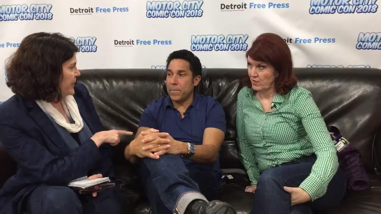 """The Office"" stars Kate Flannery and Oscar Nunez sit down for a live chat with Detroit Free Press writer Julie Hinds at the Motor City Comic Con."