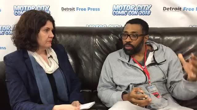 "Detroit Free Press writer Julie Hinds sits down with Kress Williams of The CW show ""Black Lightning"" live from Motor City Comic Con."