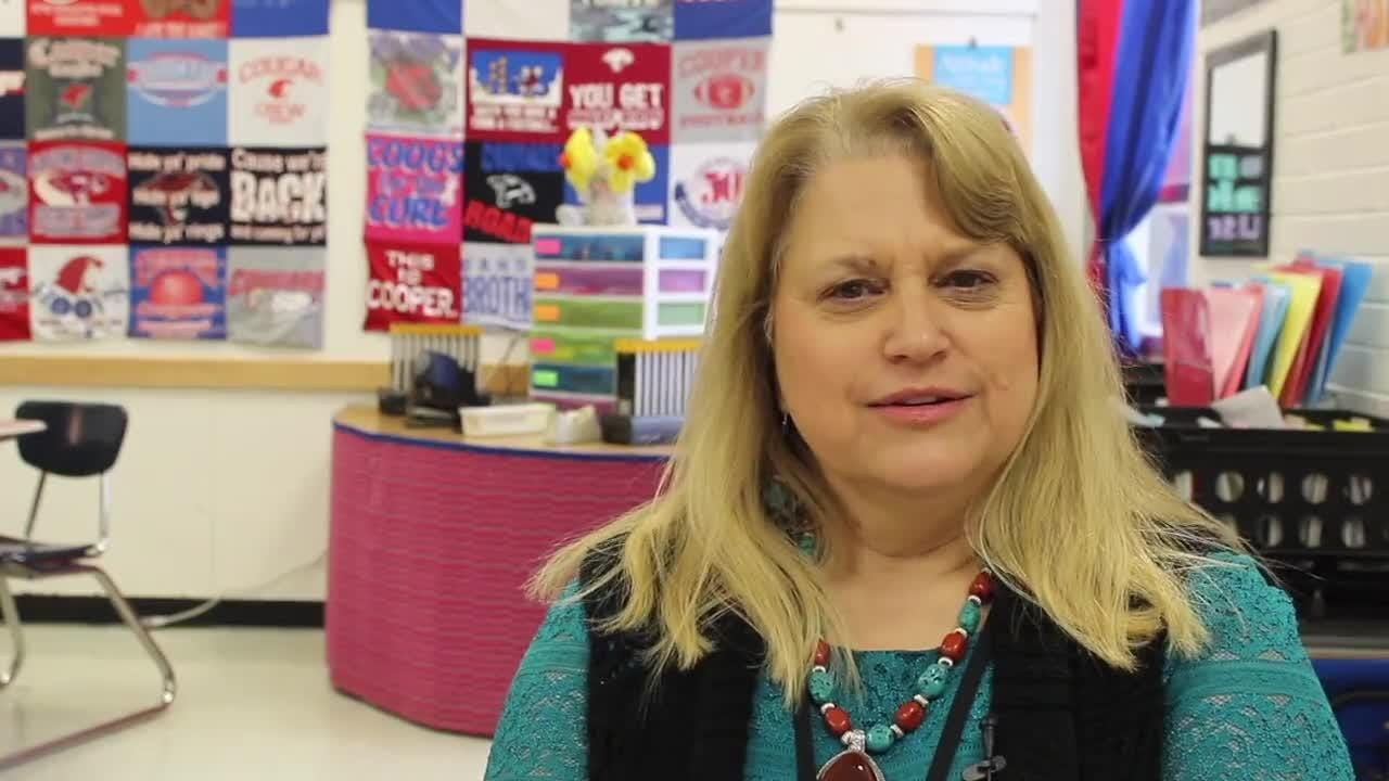 Carol Footer was chosen as Math Teacher of the Year in the Abilene Independent School District for 2017-18