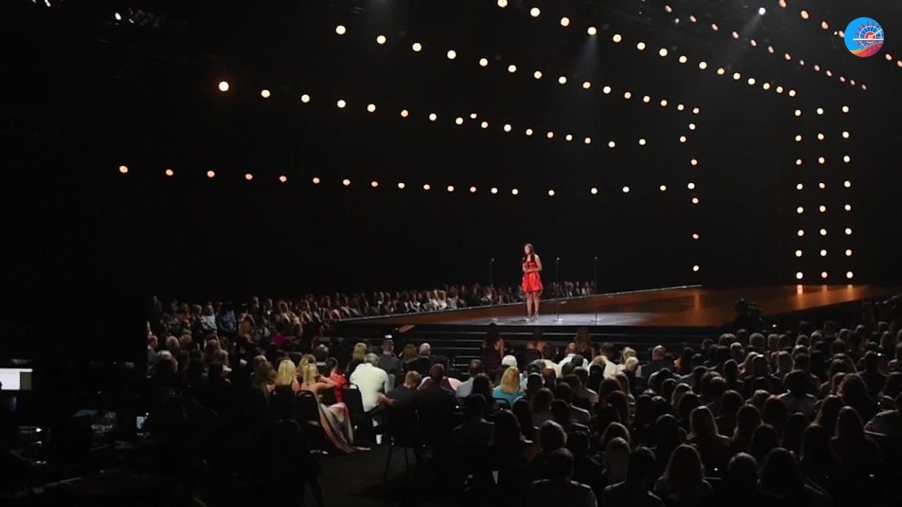 Miss Teen USA 2017 Sophia Dominguez-Heithoff speaks before the show about the school shooting in Texas earlier that same day.