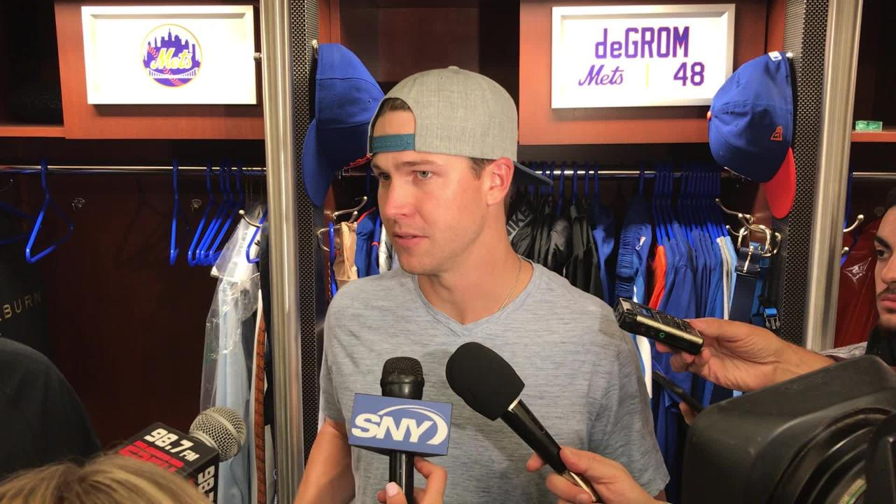 Mets right-handler Jacob deGrom talks about finding his groove after his longest outing in three weeks (7 IP) in Friday's 3-1 win over Arizona.