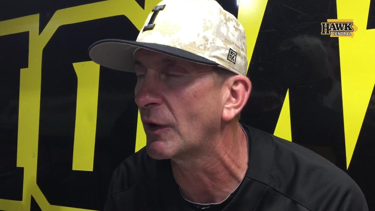 What especially pleased Iowa's baseball coach after a Friday-night 9-1 win against Penn State that sent the Hawkeyes to 32-18 overall.