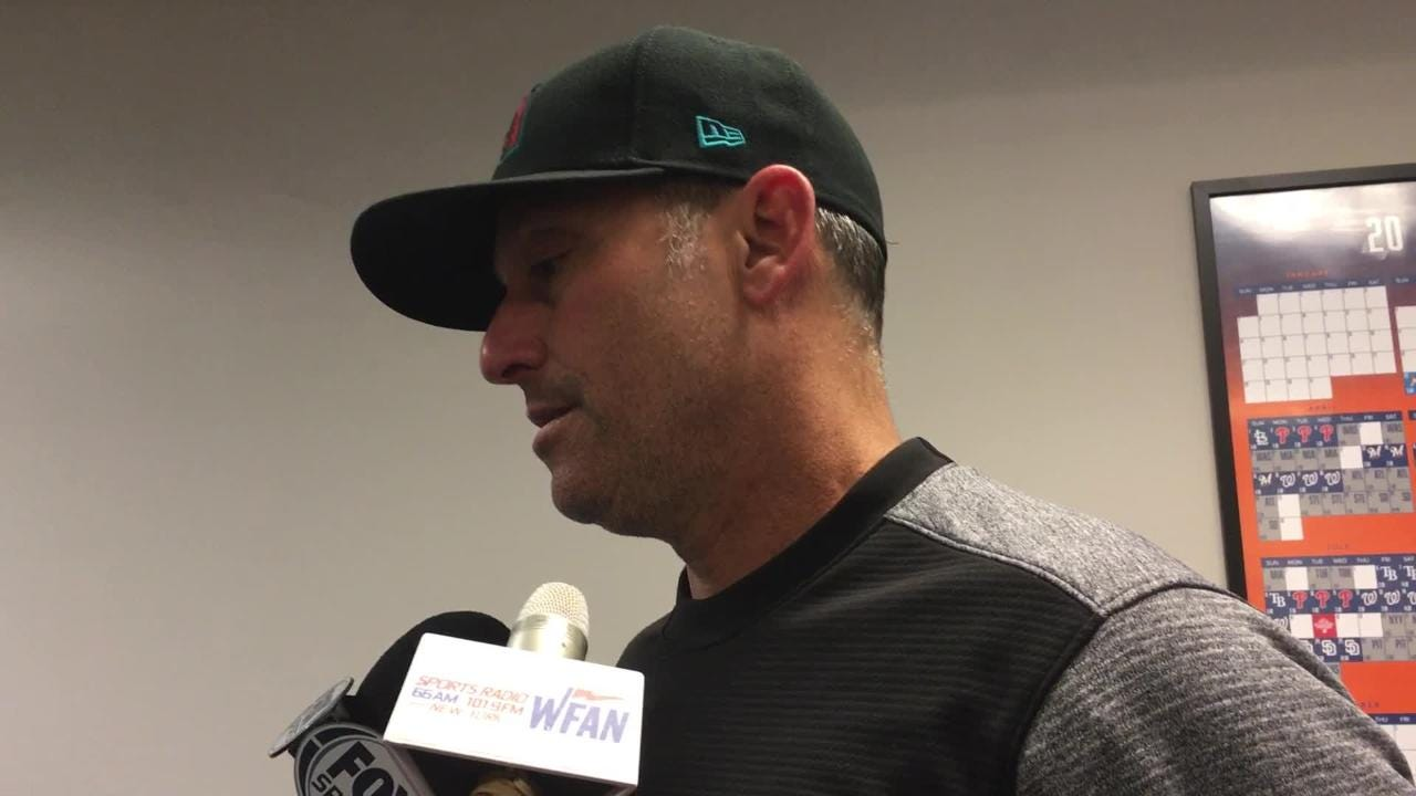 """Diamondbacks manager Torey Lovullo says his team continues to """"hurt"""" at the plate."""