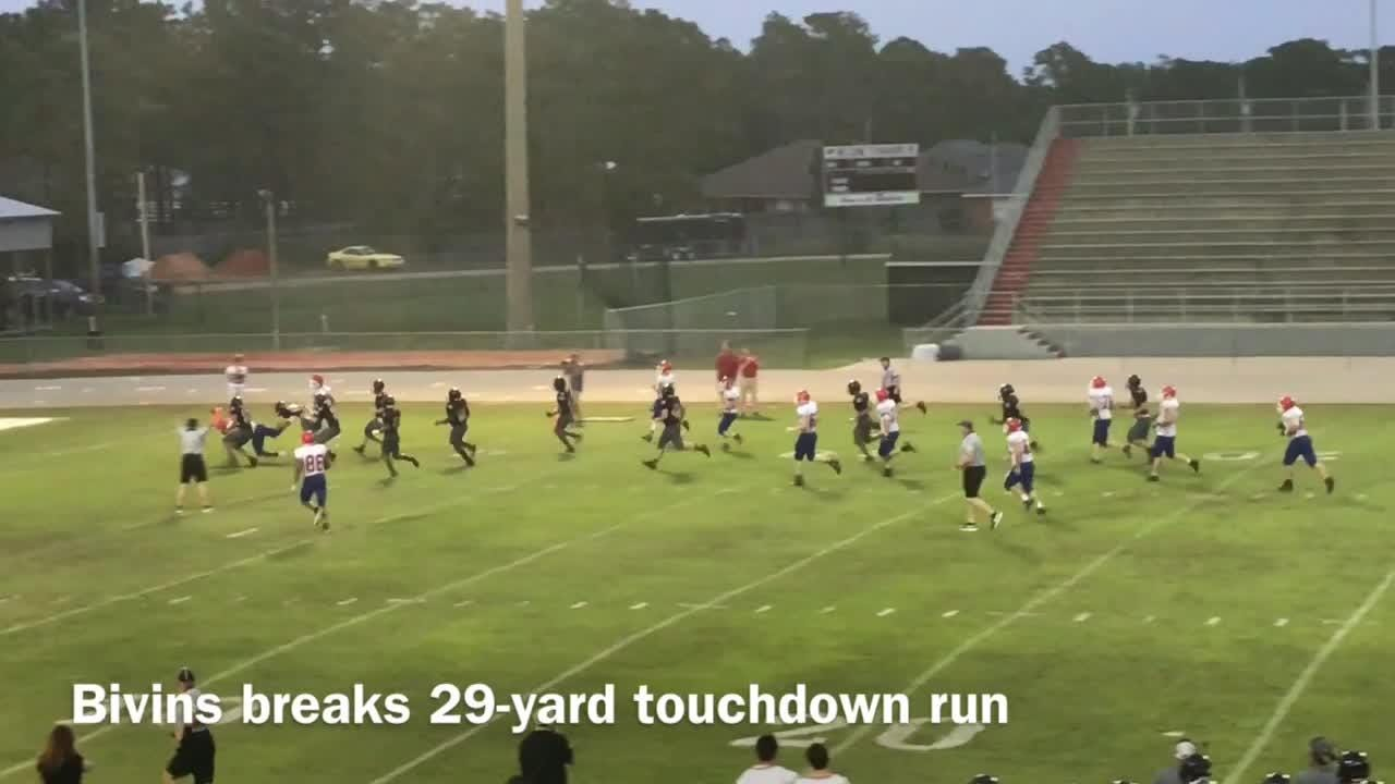 There were big plays aplenty as Navarre and Pace squared off in a spring game at Bennett C. Russell Stadium on Friday night.