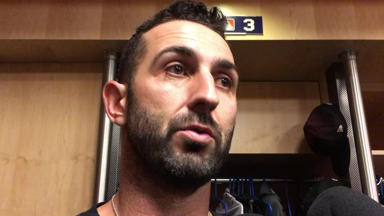 Diamondbacks infielder Daniel Descalso discusses his team's offensive struggles and his misplay in the first inning.