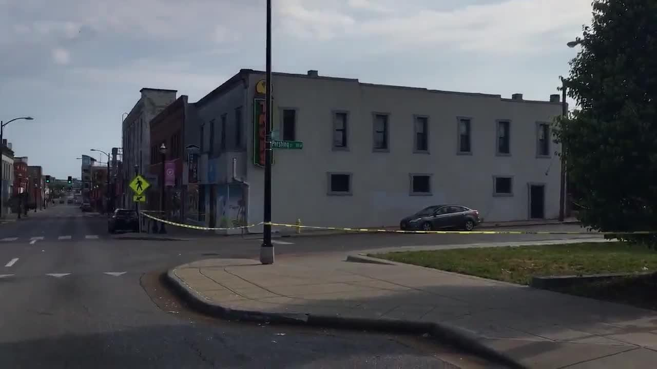 Springfield police continue to investigate the scene of a shooting outside of Tropical Liqueurs on Campbell Avenue on Saturday morning.