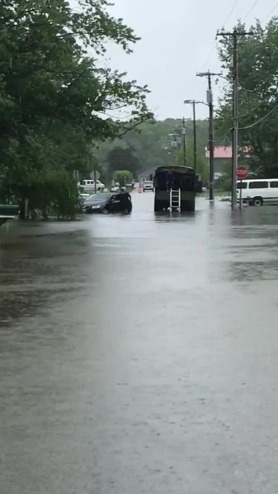 Town police rescue stranded motorists from Friday's flooding