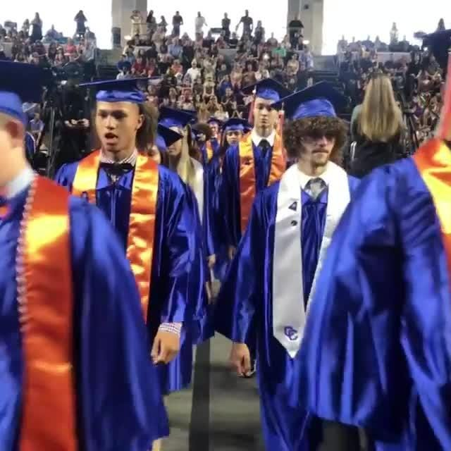 Short video clip from the 2018 graduation ceremony at Cape Coral High School.