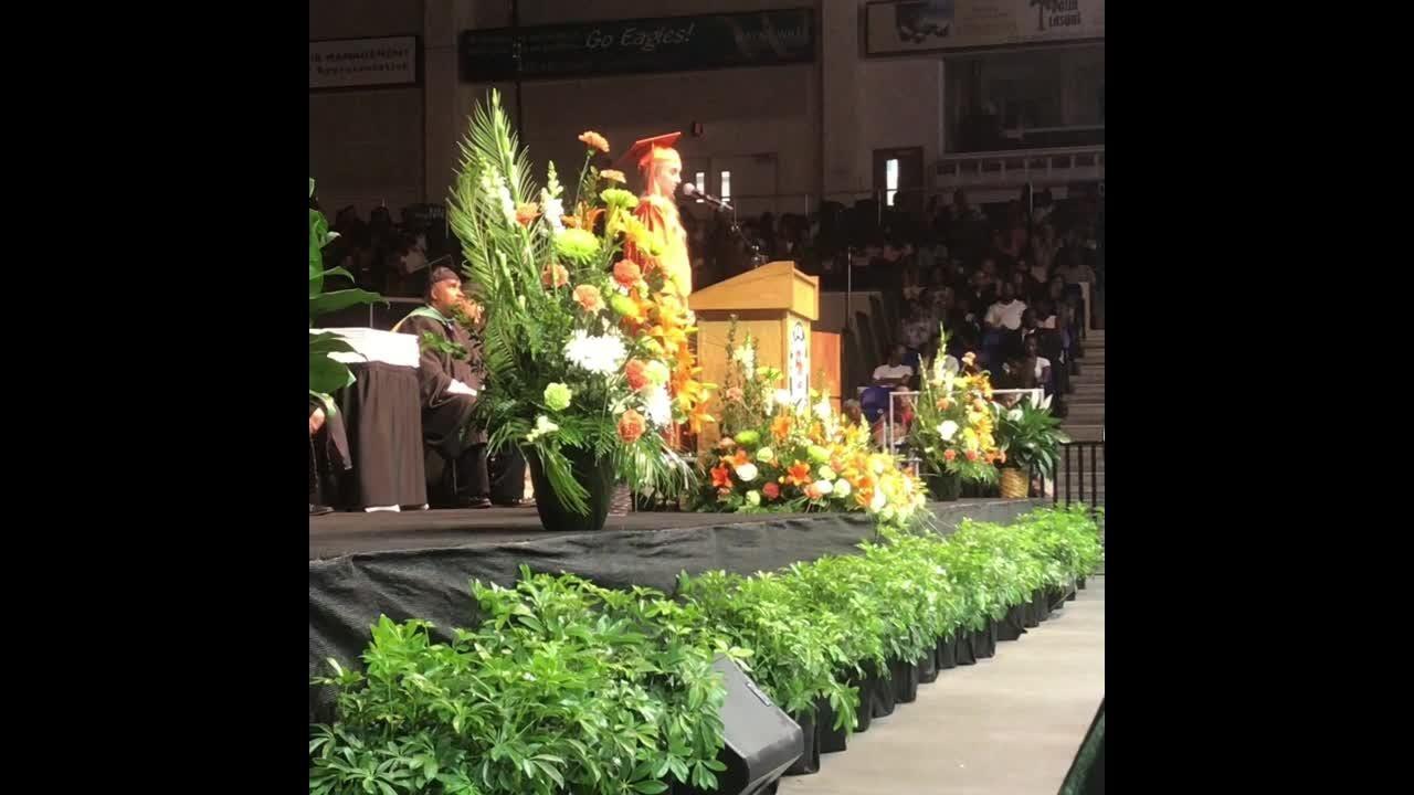 Dunbar High School students graduated at Alico Arena on Saturday.