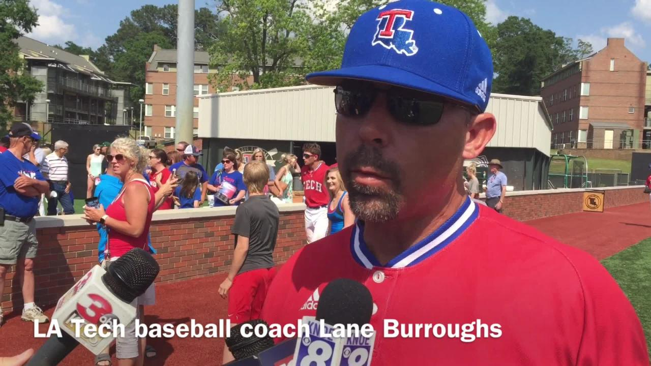 Louisiana Tech baseball coach Lane Burroughs looks at his team's chance going into Conference USA tournament next week.