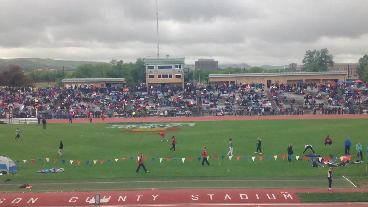 Timelapse of Jeffco Stadium on the final day of Colorado's state track and field meet.