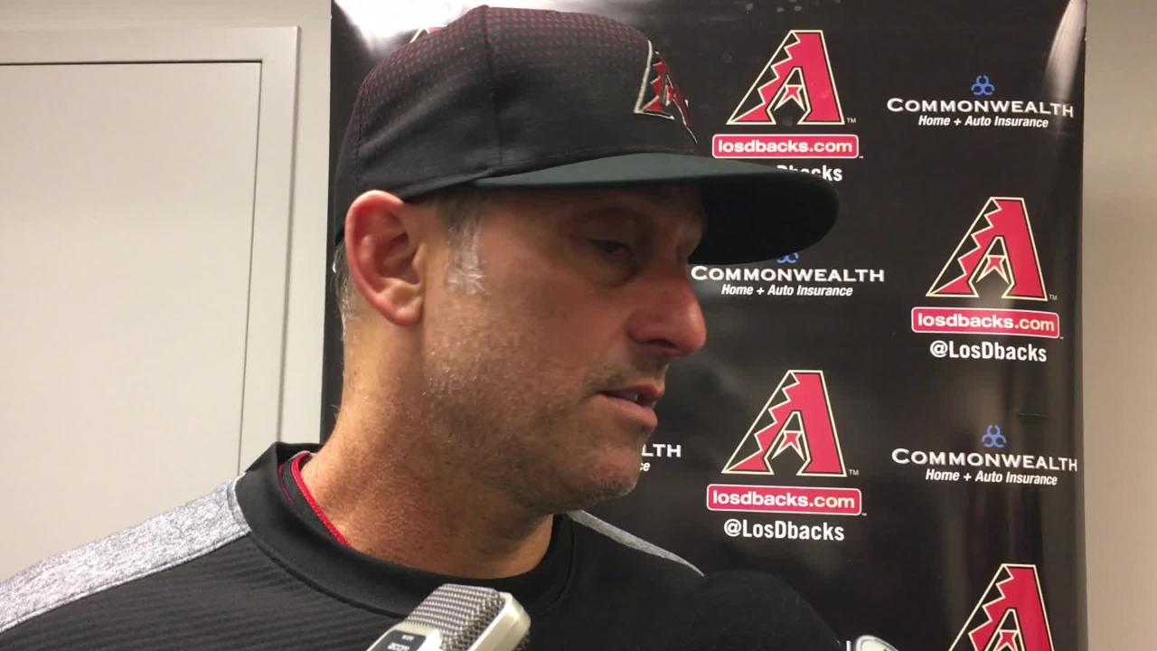 Diamondbacks manager Torey Lovullo talks about his team's latest loss, a 5-4 walkoff defeat to the New York Mets on Saturday night at Citi Field.