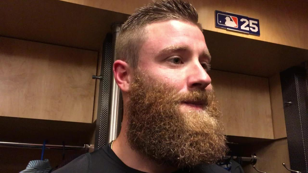 Diamondbacks reliever Archie Bradley talks about Devin Mesoraco's two-run homer off him in the eighth inning on Saturday night.