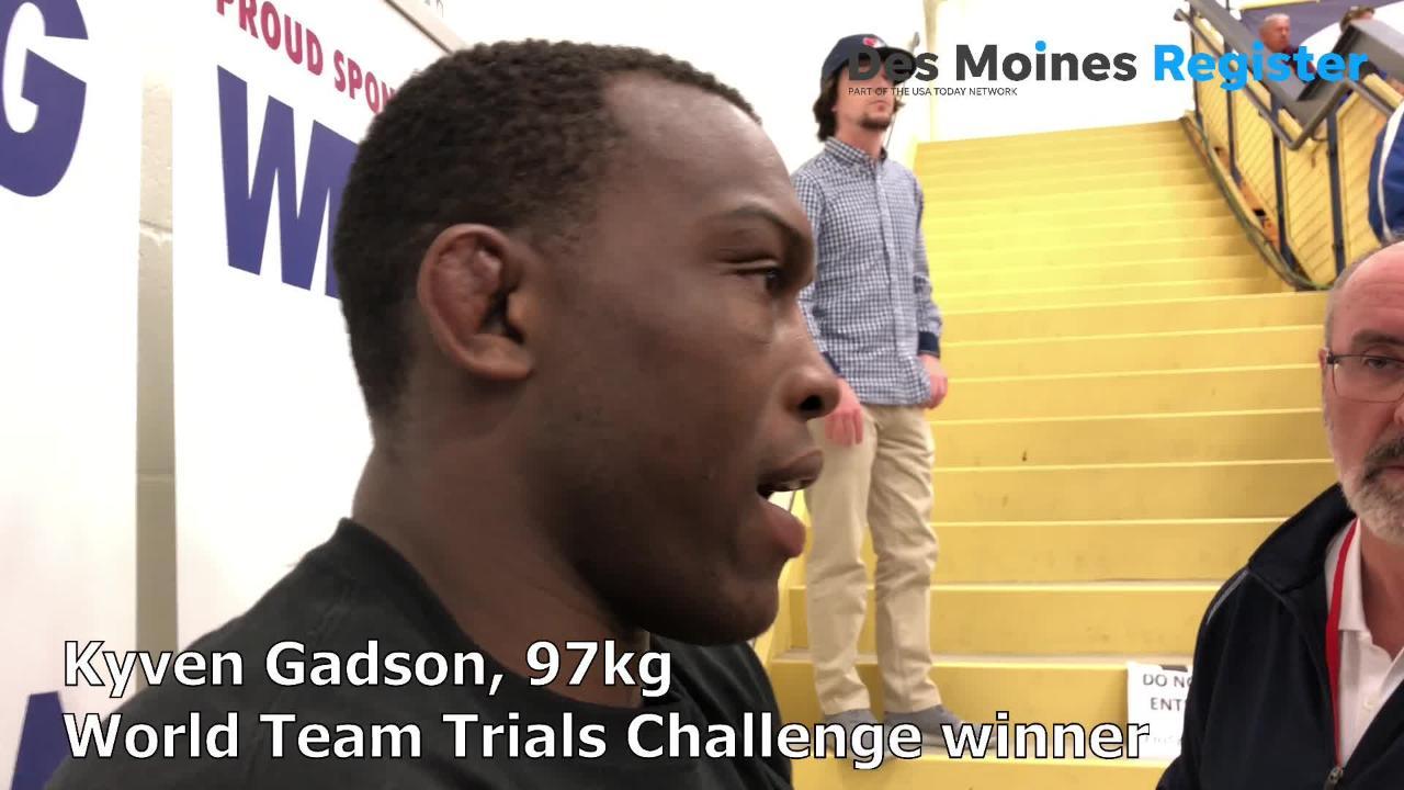 Kyven Gadson, a former Iowa State wrestler, won the 2018 world team trials challenge tournament in Rochester, Minnesota, to advance to Final X next month.