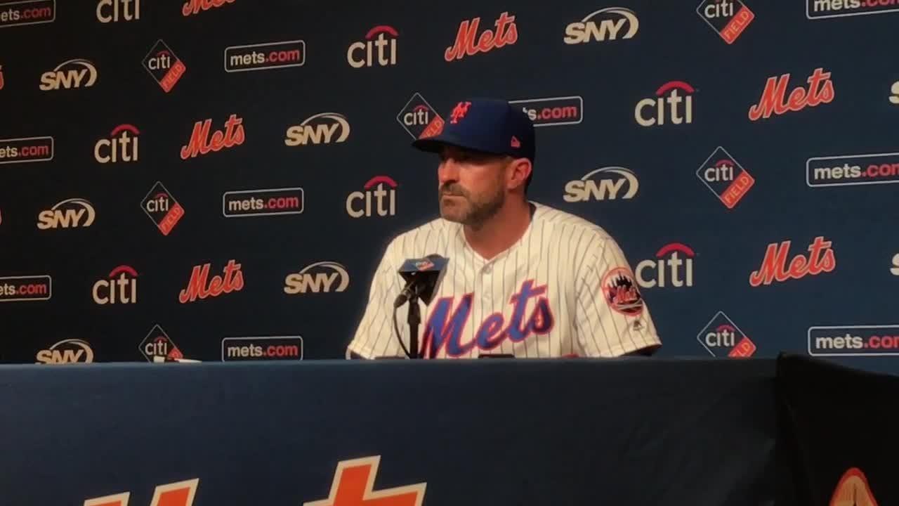 Manager Mickey Callaway talks about the Mets' sweep over the Arizona Diamondbacks.